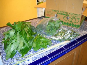 Greens from the Asian market