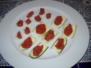 parsnips and zucchini with marinara sauce