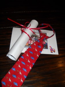 tie and diploma